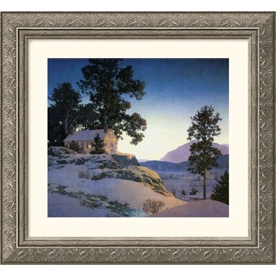 Great American Picture Evening (Winterscape), 1953 Silver Framed Print - Maxfield Parrish
