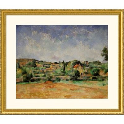 Great American Picture Red Earth Gold Framed Print - Paul Cezanne