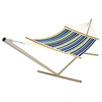 Pawleys Island Large Quilted Fabric Hammock with Stand