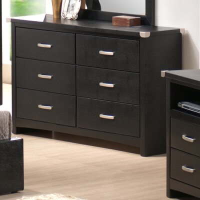 Wildon Home ® Vinyl 6 Drawer Double Dresser