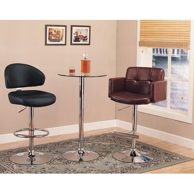 Wildon Home ® Colorado City Pub Table with Glass Top