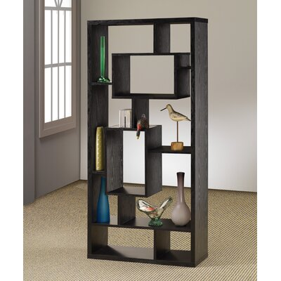 Wildon Home ® Room Divider Bookcase in Black Oak