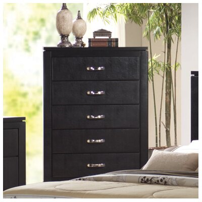 Wildon Home ® Kearny 5 Drawer Faux Leather Chest