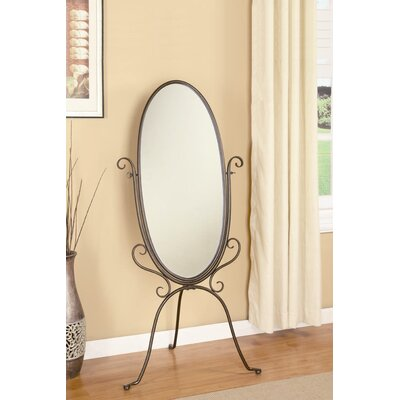 Wildon Home ® Caratunk Cheval Mirror in Antique Bronze