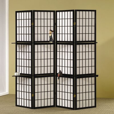 Wildon Home ® Folding Screen in Black