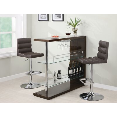 Wildon Home ® Fairlie Bar Table in Cappuccino