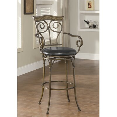 Wildon Home ® Hickory Creek Barstool in Black