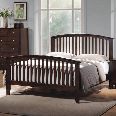 Wildon Home ® Double Oak Queen Slat Bedroom Collection