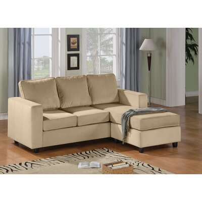 Wildon Home ® Reversible Velvet Chaise Sectional