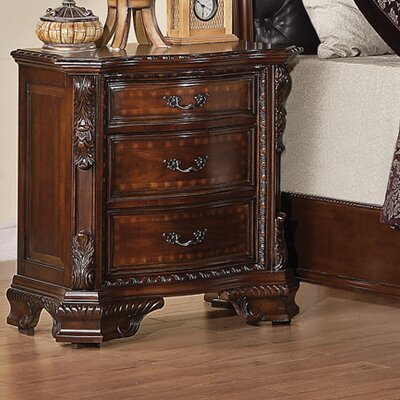Wildon Home ® Martone 3 Drawer Nightstand