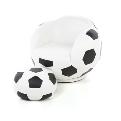 Wildon Home ® Kid's Soccer Ball Chair and Ottoman