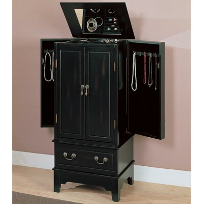 "Wildon Home ® Wapato 38"" Jewelry Armoire in Black"
