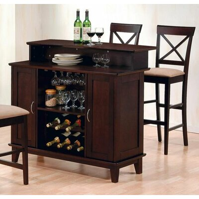 Wildon Home ® Derby Bar Set in Deep Cappuccino