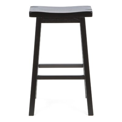 "Wildon Home ® Aloha 29"" Bar Stool in Antique Black"