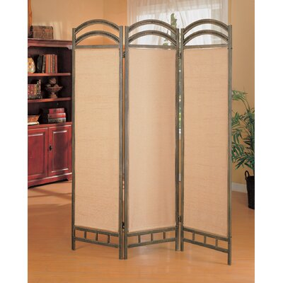 Wildon Home ® Oakville Three Panel Folding Screen in Antique Gold
