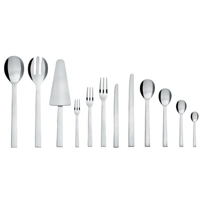 Alessi Santiago Stainless Steel Cutlery Set in Mirror Polished by David Chipperfield