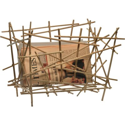 Alessi Blow-Up Bamboo Magazine Holder by Fratelli Campana