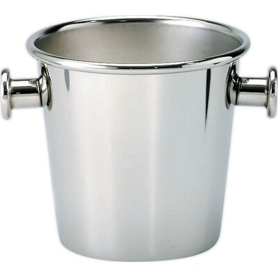 Alessi Ice Bucket with Handles in Matte Stainless Steel