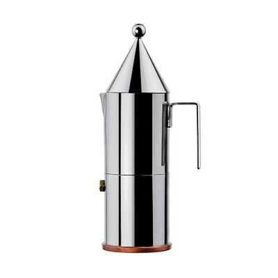 Alessi La Conica Espresso / Coffee Maker in Mirror Polished by Aldo Rossi