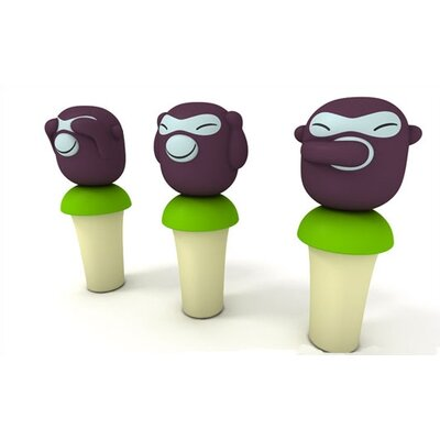 Alessi Banana Boys Bottle Stoppers by Stefano Giovannoni