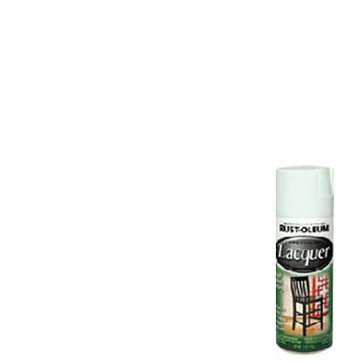 Rustoleum 11 Oz White Lacquer Spray Paint Gloss