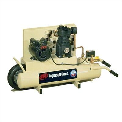 Ingersoll Rand 8 Gallon 3 HP Wheelbarrow Twin-Tank Electric Air Compressor