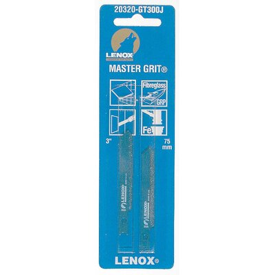 Lenox Tools 3&quot; Grit Edge Universal Style All Purpose Jig Saw Blade 20320-GT300J 