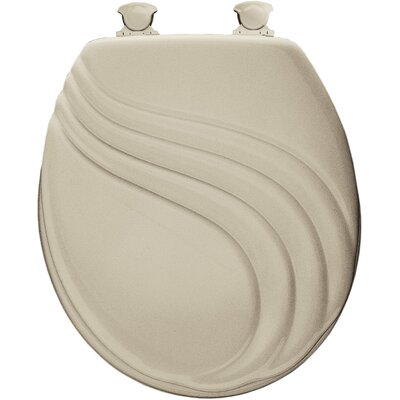 Molded Wood Swirl Design Round Toilet Seat