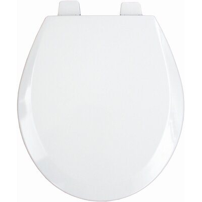 Molded Wood Decorator Commercial Open Front Round Toilet Seat