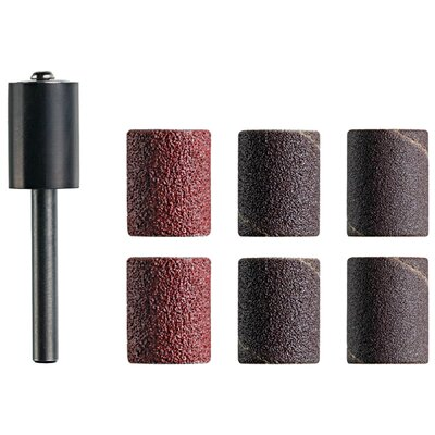 "Dremel 6 Count 1/2"" Assorted Grit Trio™ Sanding Drum Mandrel TR470"