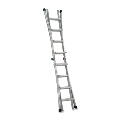 "Werner Telescoping Ladder,w/ J Lock,17',8-1/2""x24-5/8""x204"",AM"