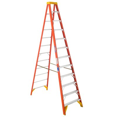 "Werner 144"" Load Bearing Fiberglass Step Ladder"