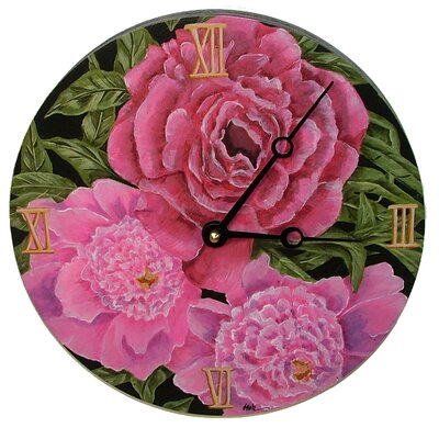 Lexington Studios Peonies Decorative Wall Clock