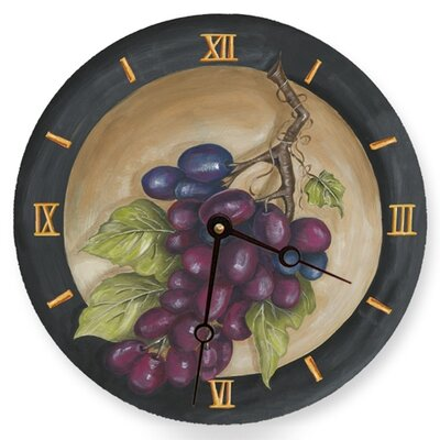 Lexington Studios Vinyard Grape Round Clock