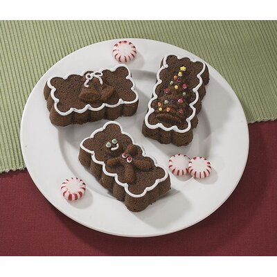 Nordicware Platinum Holiday Mini Loaves Cake Pan