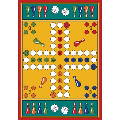 Learning Carpets Play Carpet Parcheesi Kids Rug