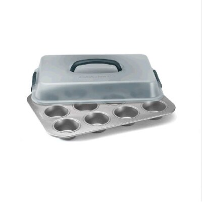 Nonstick Bakeware 12 Cup Covered Cu Piecake Pan
