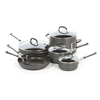 Simply Hard-Anodized Aluminum 10-Piece Cookware Set