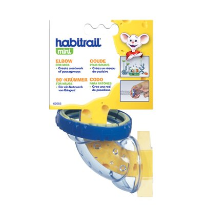 Hagen Habitrail Mini Elbow with Lock Connector Hamster Cage Accessories