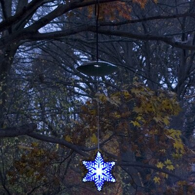 Mr. Light Single 6&quot; LED Solar Tree Light Style 4 in Blue and White