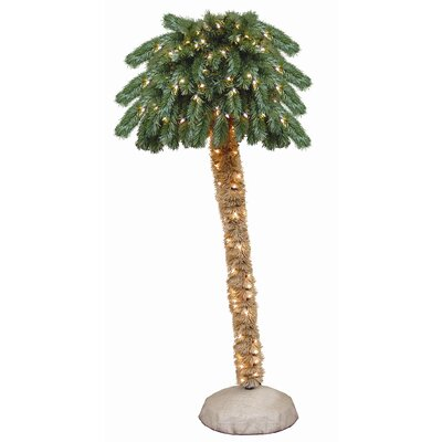 "General Foam Plastics 72"" Prelit Palm Tree with 150 Clear Lights"