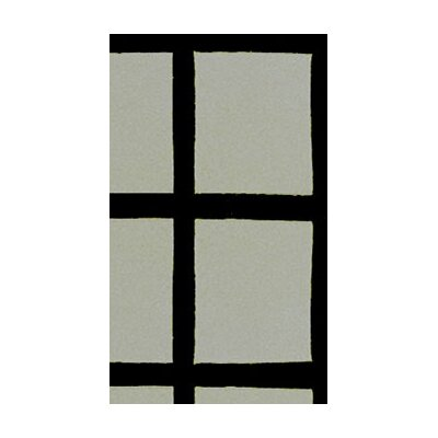 American Home Rug Co. Bright Rug Window Blocks Grey/Black Rug