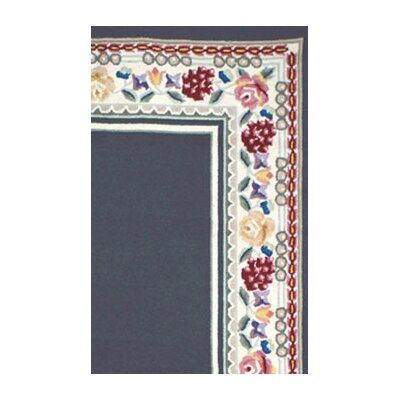 American Home Rug Co. Bucks County Navy/Ivory Border Rug