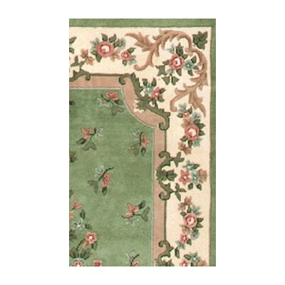 American Home Rug Co. Floral Garden Floral Aubusson Light Green/Ivory Rug