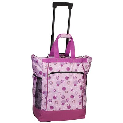 Print Pattern Rolling Shopping Tote