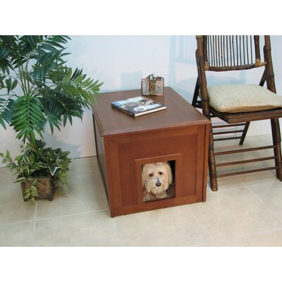 Crown Pet Products Doggie Den Cabinet and Indoor Doghouse made with Eco-Friendly Rubberwood