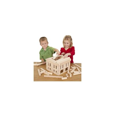 Stack and Stick Train Station Building Set