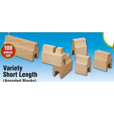 Stack and Stick Variety Short Length Building Set (100 Pieces)