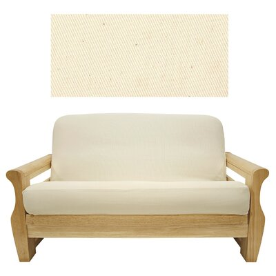 Easy Fit Solid Natural Futon Cover