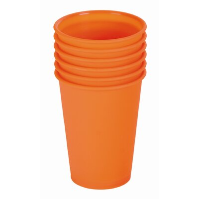 Contento 6-tlg. Becher-Set &quot;Picnic&quot; in Orange